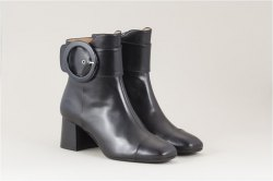 Parlanti Soft nappa leather mid heel booties