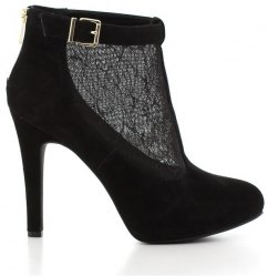 Ankle Boots Jessica Simpson Δαντέλα και Δέρμα Καστόρι