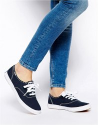 Keds Champion Canvas Navy Plimsoll Shoes Navy