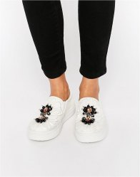 ASOS DELICIOUS Embellished Trainers