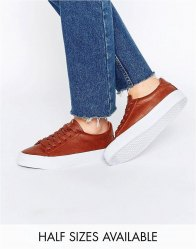 ASOS DALLINGTON Lace Up Trainers Tan