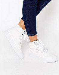 ASOS DUKE Lace Up High Top Trainers