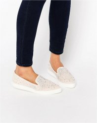 Miss KG Embellished Slip On Trainer