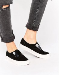 Vans Authentic Slip On Trainers με Metal Detail