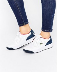 Lacoste Aceline Leather Trainers Multi