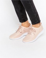 Lacoste Premium Leather Joggeur Nude Trainers