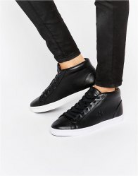Lacoste Premium Leather Straightset Chukka Hi Top Trainers