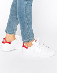 Adidas Originals και Red Stan Smith Trainers
