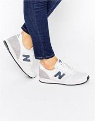 New Balance 420 Neutral Suede Trainers