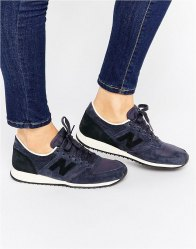 New Balance 420 Navy και Black Suede Trainers