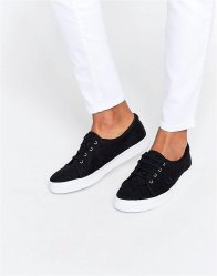 Fred Perry Aubyn Flocked Polka Dot Twill Plimsoll Trainers