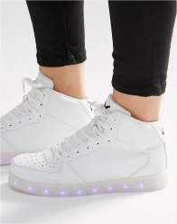 Wize Ope Light Up Sole Hi Top Trainers