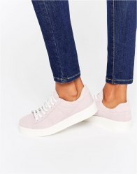 Pieces Siri Misty Rose Suede Trainers Misty rose