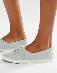 Fred Perry Grey Aubrey Plimsoll Trainers Dolphin