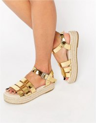 ASOS JUSTINE Chunky Espadrille Sandals
