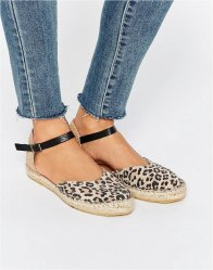 Selected Julia Two Part Espadrille Flat Sandals