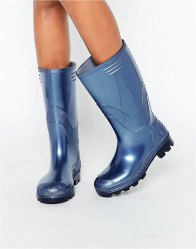 JuJu Navy Pearl Wellington Boots Midnight pearl