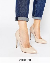 ASOS PLAYFUL Wide Fit Pointed Heels
