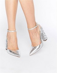 ASOS PLAYGROUND Embellished Pointed High Heels