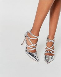 ASOS POTION Pointed Caged High Heels