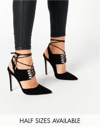 ASOS PATROL Lace Up Pointed Heels
