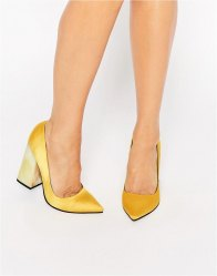 ASOS PIER Pointed High Heels Ochre
