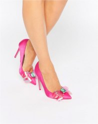 ASOS PAYDAY Embellished Pointed High Heels
