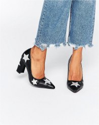 Daisy Street Star Heeled Shoes