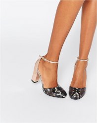 Glamorous Ankle Strap Heeled Shoes