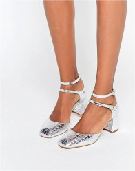 KG By Kurt Geiger Dolly Croc Mid Heeled Shoes