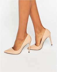 Lost Ink Delila Heeled Court Shoes