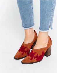 Free People Alamo Suede Western Heeled Shoes