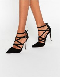 ASOS PLAYHOUSE Pointed Caged High Heels