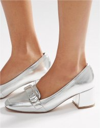 ASOS ON TIME Square Toe Loafers