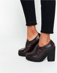 ASOS OCTOPUS Chunky Loafers Choc
