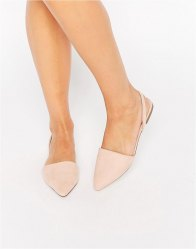 ASOS LAINEY Pointed Sling Back Ballet Flats