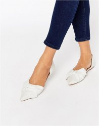 ASOS LADY Pointed Bow Ballet Flats Ivory