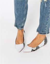 ASOS LIVELY Patchwork Pointed Ballet Flats Multi