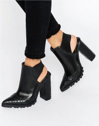 ASOS ERWIN Elastic Pointed Ankle Boots