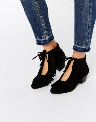 ASOS AIDEN Fringe Ankle Boots