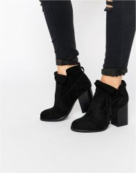 ASOS EMMA Suede Slouchy Ankle Boots