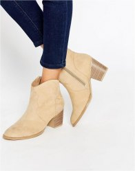 ASOS RAE Western Ankle Boots Sand