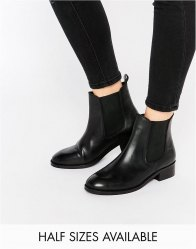 ASOS ATTRIBUTE Leather Chelsea Ankle Boots