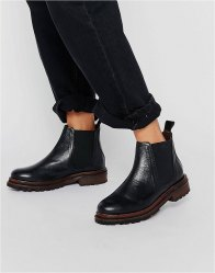 Hudson London Black Leather Wistow Ankle Boot