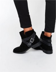 ASOS ALEX Suede Slouch Ankle Boots