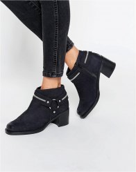 ASOS RAUL Leather Stirrup Ankle Boots