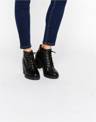 ASOS RAVI Leather Lace Up Ankle Boots