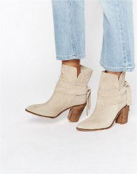 ASOS ELISHIA Suede Slouch Ankle Boots Sand suede