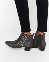ASOS AFFIA Multi Buckle Ankle Boot
