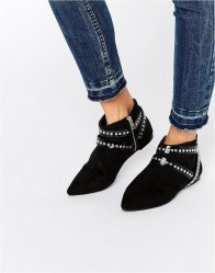 ASOS ANNA Wrap Around Strap Pointed Ankle Boots